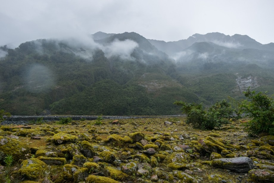 La vallée menant au glacier.