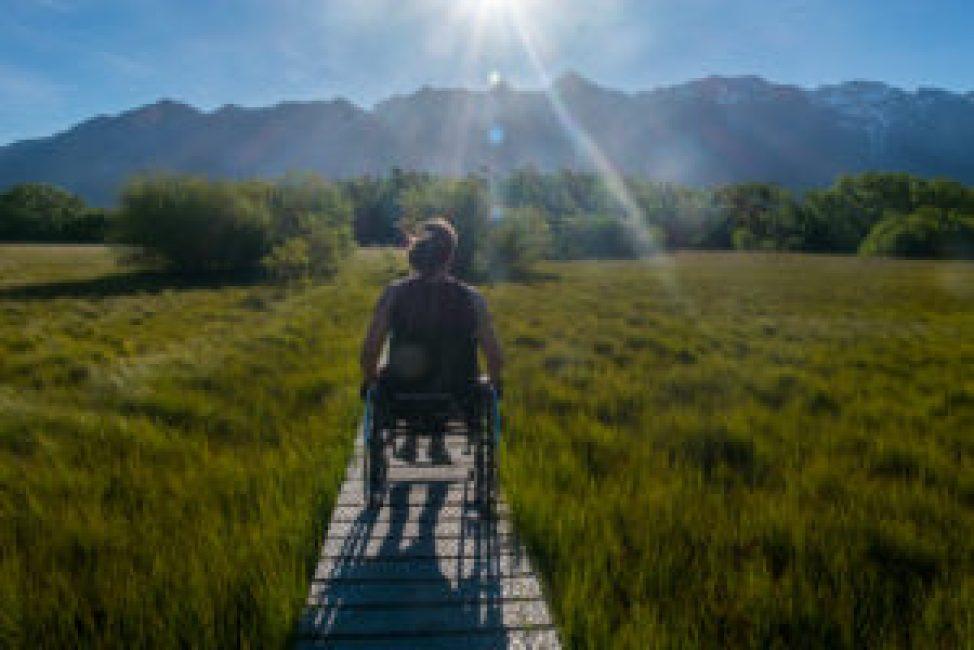 Une balade très agréable en fauteuil roulant.