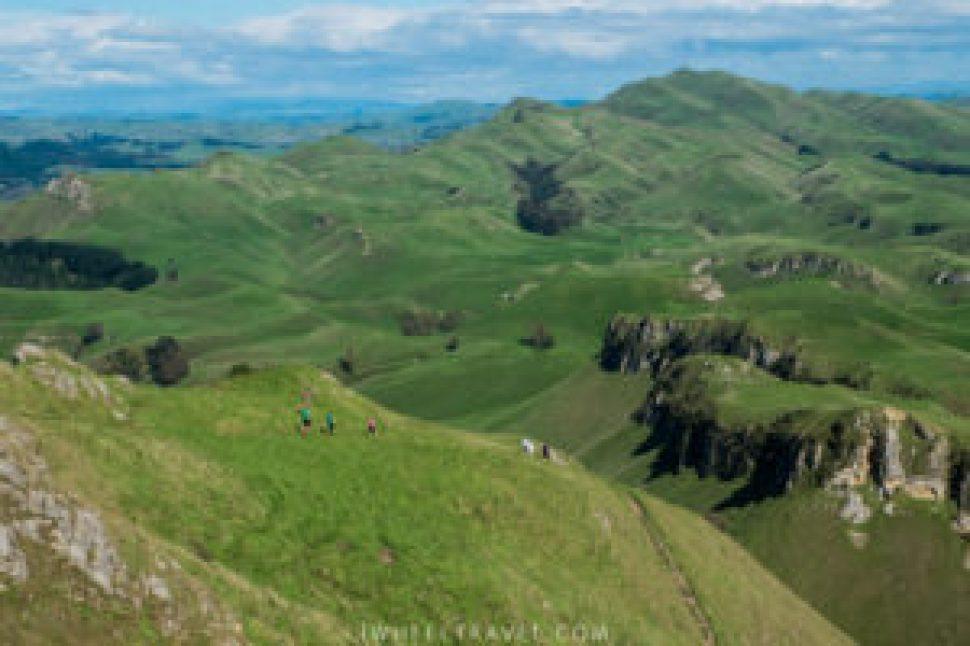 La vue depuis Te Mata Peak.