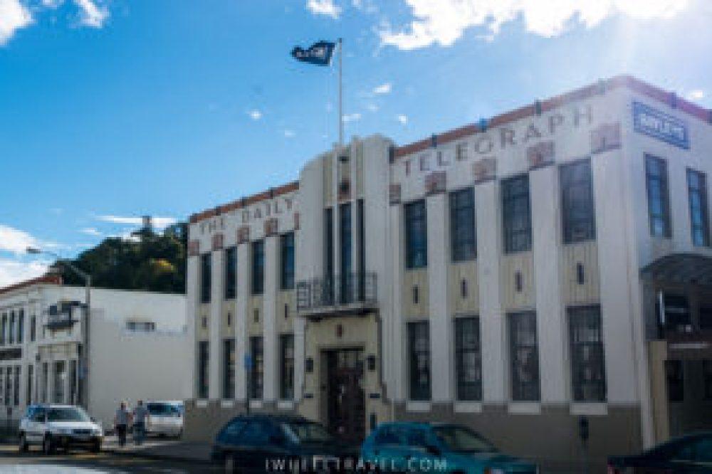 Le bâtiment du Daily Telegraph, l'un des plus connus de Napier.