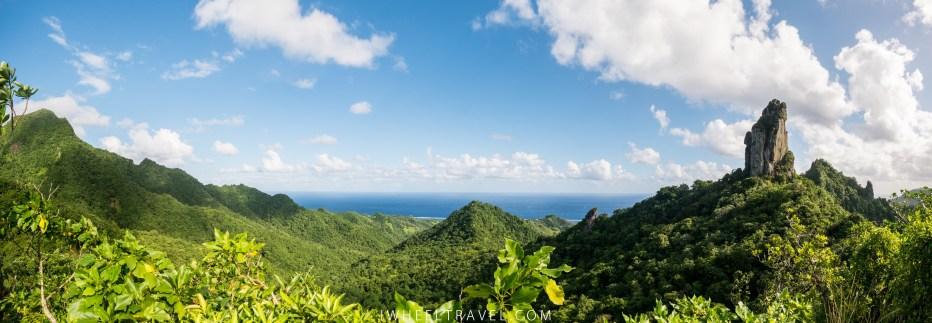 """La vue depuis le sentier de la """"Cross island walk"""", randonnée que Franck a faite."""