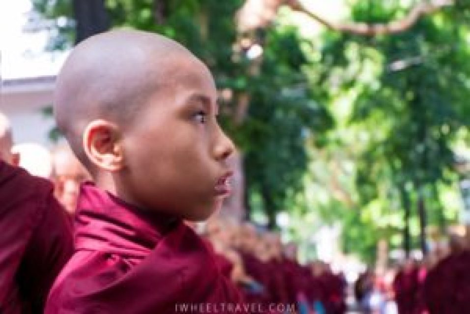 This young monk is one of the most lucky who have been selected.