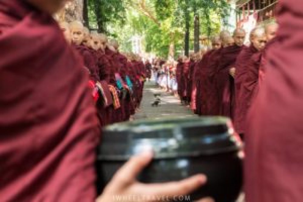 It is 11.55am, the first monks are getting ready.