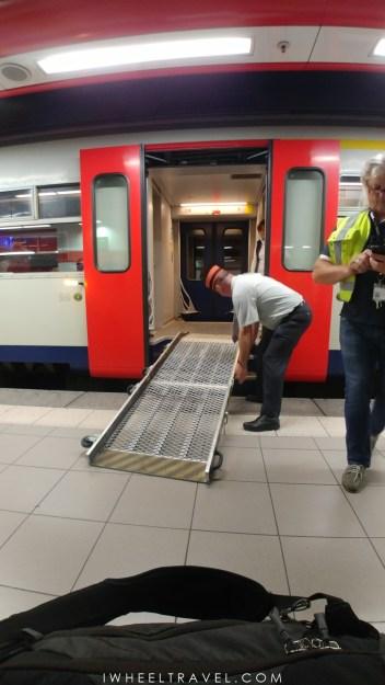 Assistance PMR à la gare de Bruxelles.