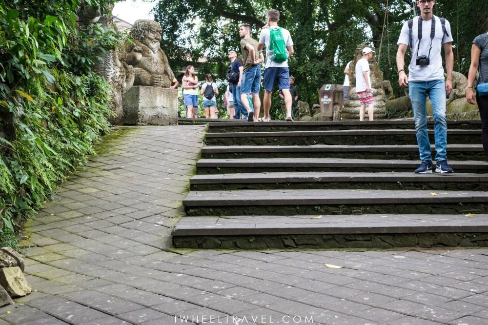 Rampe à l'intérieur d'Ubud Monkey Forest.