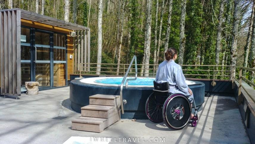 Centre de bien-être les sources chaudes fauteuil roulant