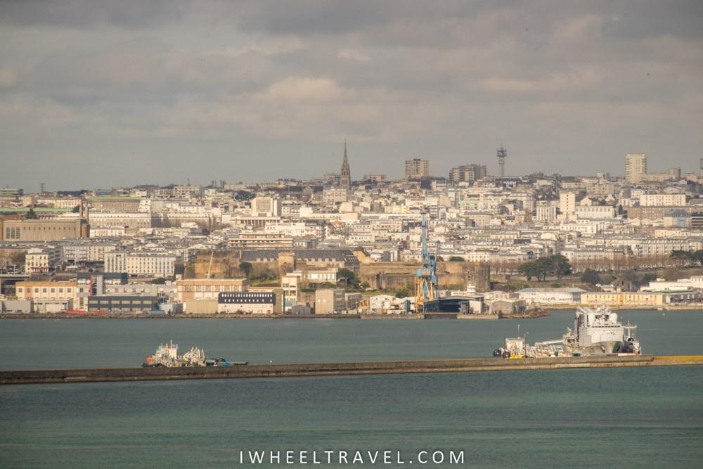 Brest, vue depuis la pointe des Espagnols.