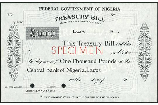 Image result for images of treasury bill in Nigeria