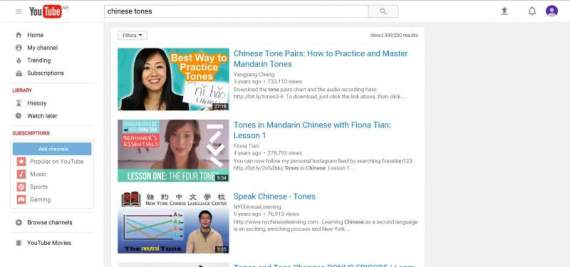 chinese tones youtube