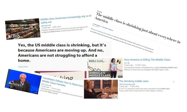 Middle class collage