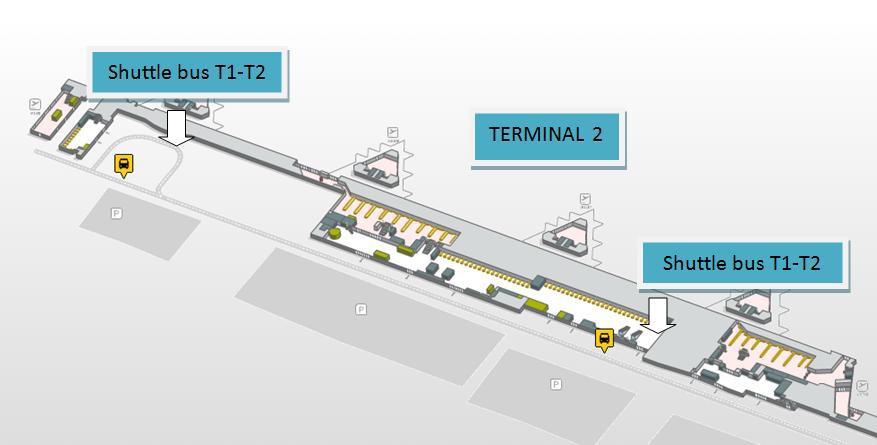 T2 Shuttle bus stops