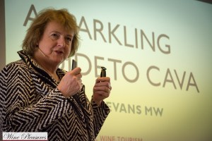 Sarah Jane Evans at IWINETC Grand Cava Tasting