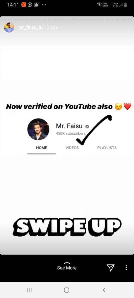 Amid the TikTok Vs YouTube battle, popular TikTok star Faisu is now YouTube VERIFIED 1