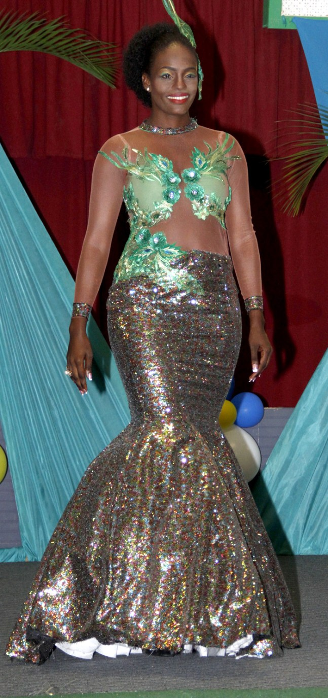 "The winning evening wear, Melissa Davis' """"Goddess of the Sea"" (IWN photo)"