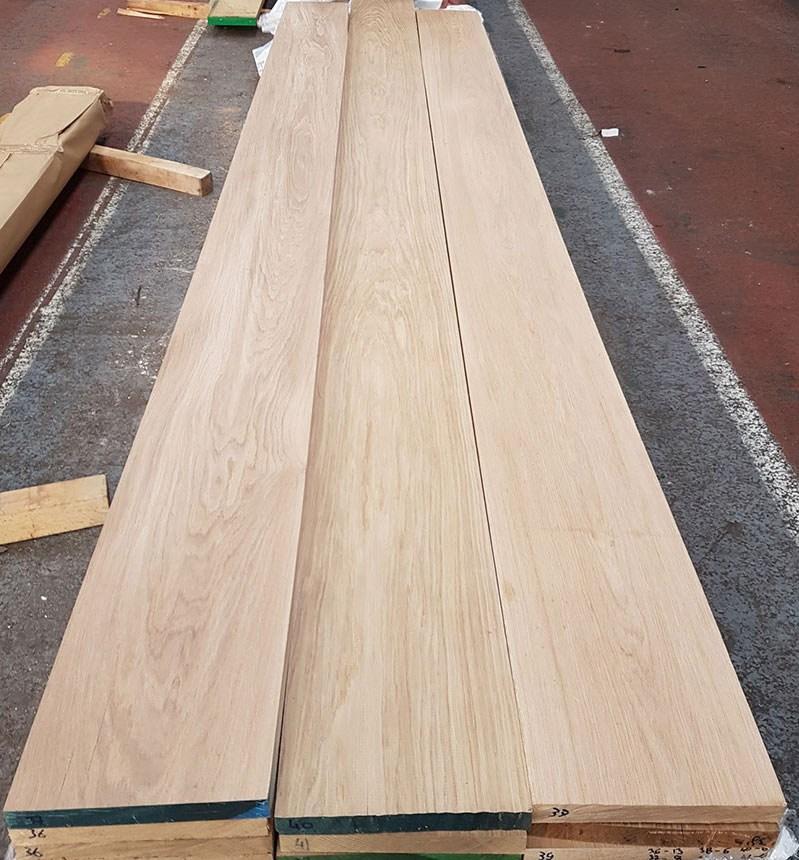 Oak Stair Strings | European Oak Stair Treads | Basement Stairs | Hardwax Oil | Lumber | Risers | Wood Stair Railing