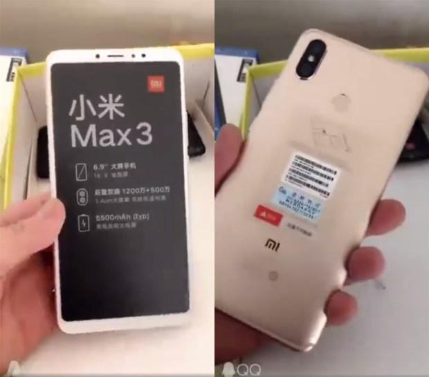Появились изображения золотистого варианта Xiaomi Mi Max 3