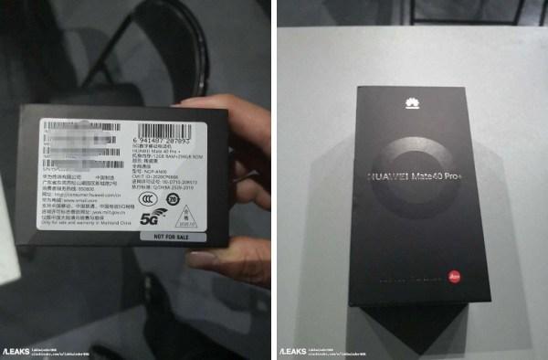 Фото упаковки Huawei Mate 40 Pro+ с 12/256 ГБ памяти