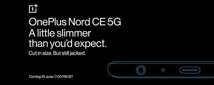 В новом смартфоне OnePlus вернётся разъём для наушников, а корпус станет тоньше. Nord CE 5G покажут 10 июня