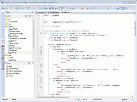 Komodo Edit v.8.0.1 - текстовый редактор с подсветкой ...