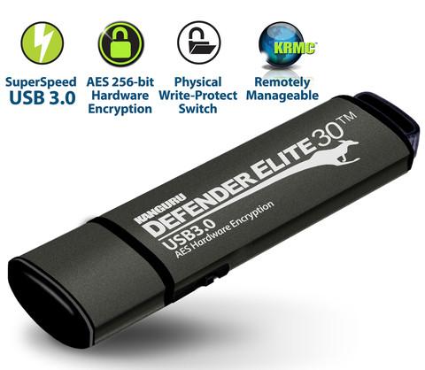 Флэшнакопитель Kanguru Defender Elite30 с интерфейсом USB