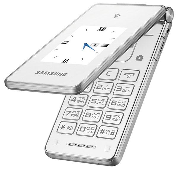 Телефон-раскладушка Samsung Master Dual оснащен дисплеями ...