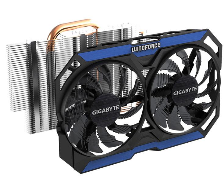Компактные 3D-карты Gigabyte GV-N960OC-2GD и GV-N960OC-4GD оснащены охладителями WindForce 2X