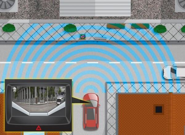 Камера устанавливается на радиаторную решетку, фиксируя происходящее не только перед автомобилем, но и слева, и справа от него