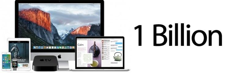 Пользовательская база устройств Apple превысила миллиард человек