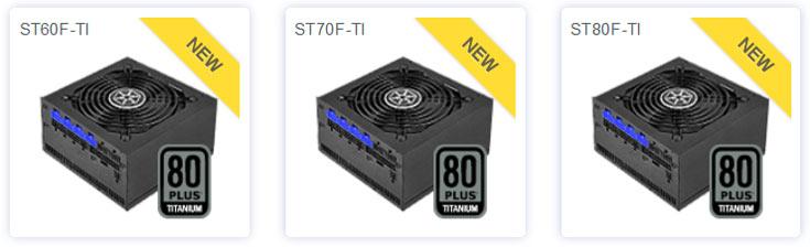 Серия SilverStone Strider Titanium включает модели ST60F-TI, ST70F-TI и ST80F-TI мощностью 600 Вт, 700 Вт и 400 Вт соответственно
