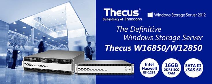 Хранилища Thecus W12850 и W16850 работают под управлением операционной системы Windows Storage Server