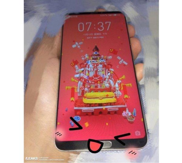Снимок безрамочного смартфона Meizu демонстрирует наличие ...