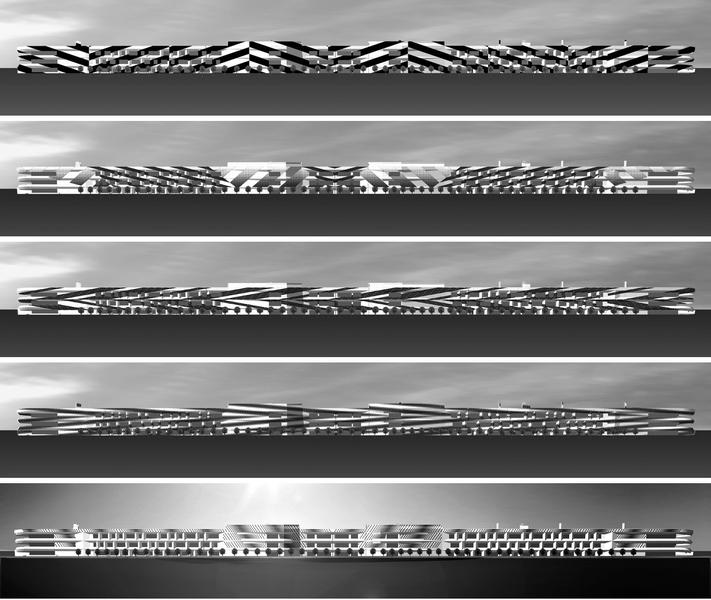Dazzle — проект оформления здания 2000 панелями  E Ink Prism