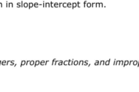 Free Forms 2018 Standard Form To Slope Intercept Form Calculator