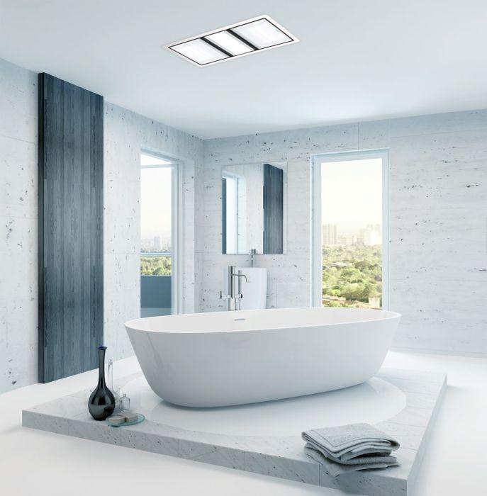 tastic luminate dual 3 in 1 bathroom heater exhaust fan light white