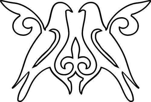 Раскраска орнамент птицы | раскраски узоры