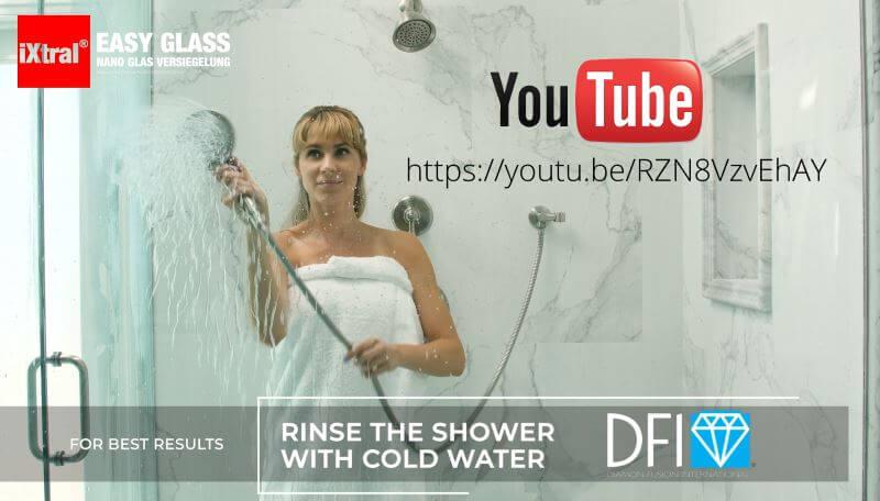 iXtral EASY GLASS Glasversiegelung für Lotuseffekt Abperleffekt macht das Leben leichter - Youtube Video