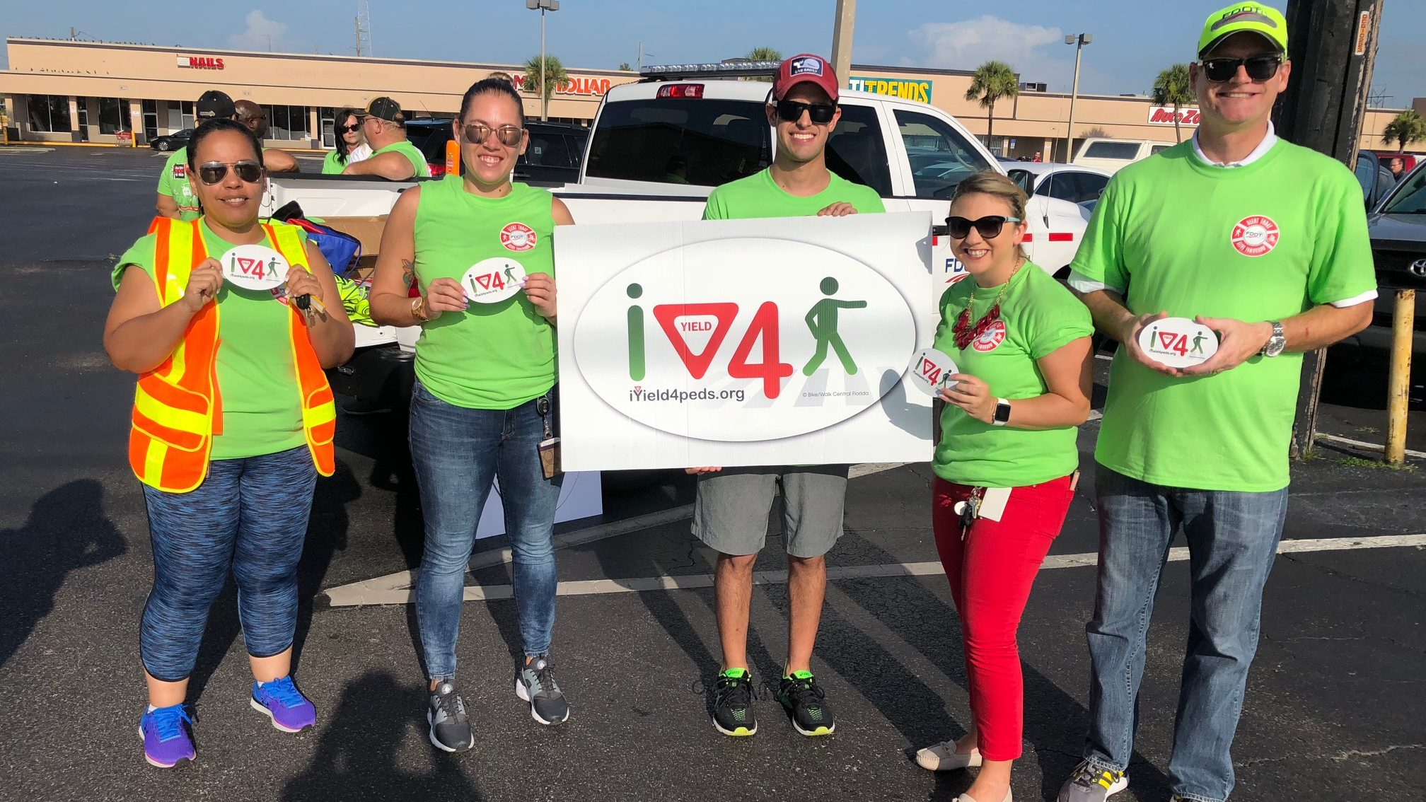 BFF Team Attends FDOT's Stop On Red Event