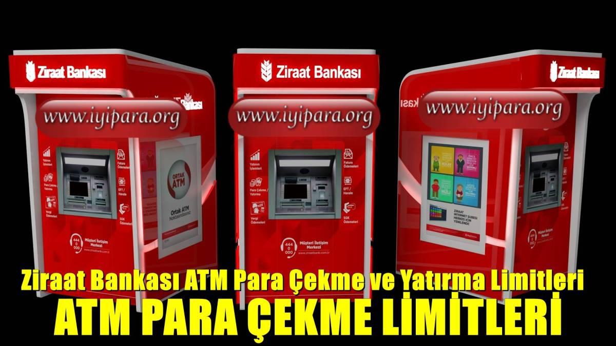 Ziraat Bankası ATM Para Çekme ve Yatırma Limitleri