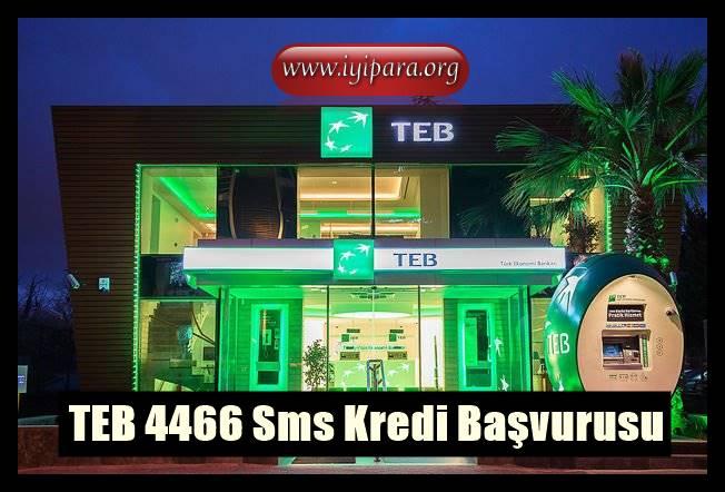 TEB 4466 SMS Kredi Başvurusu