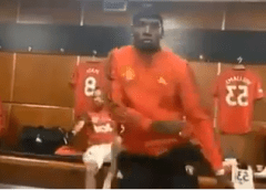 Pogba shows off dance moves as Ighalo plays Wizkid's Soco in changing room