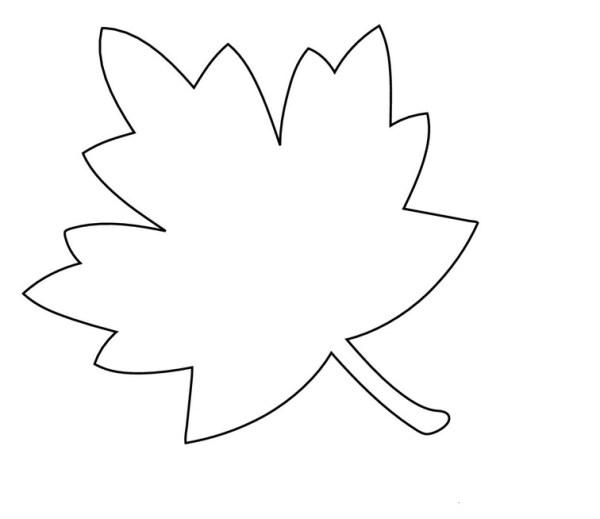 Шаблоны осенних листьев для вырезания из бумаги.