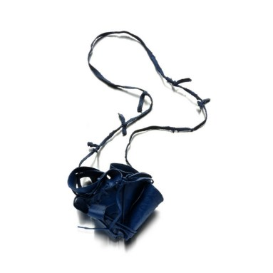 art jewellery Vienna, big blue statement necklace, by designer Izabella Petrut