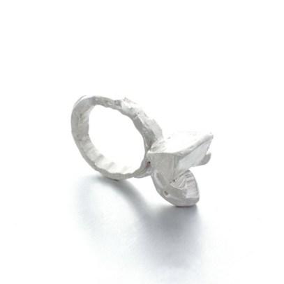 handmade unique silver ring, jewellery design Vienna. Izabella Petrut