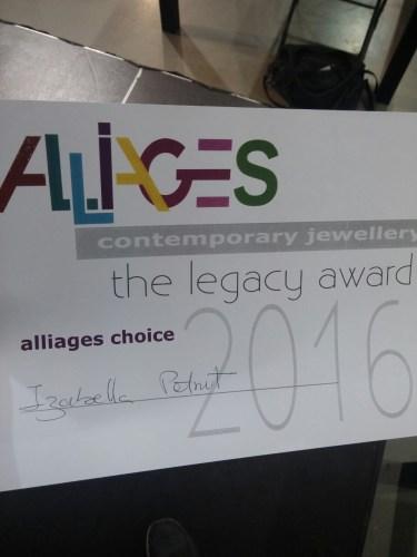 alliages choice award 2016 at joya barcelona for art jewelry