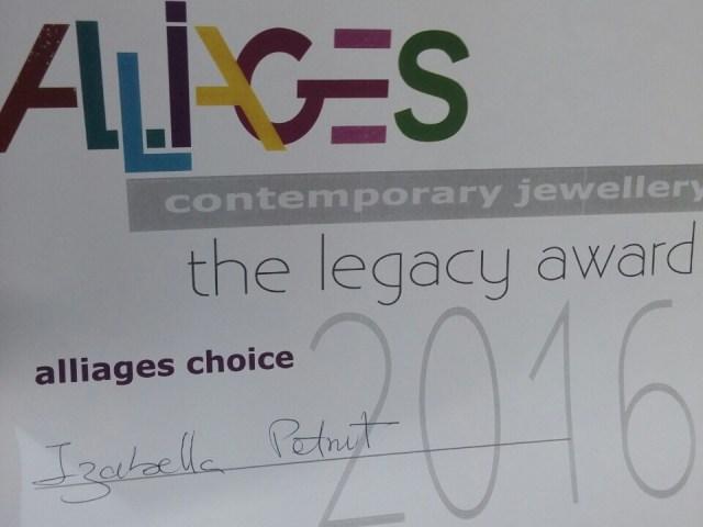 Alliages Choice Award 2016