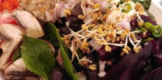 Recette N°177 - Salade graines germées et betteraves lacto-fermentées - Crédit photo izart.fr