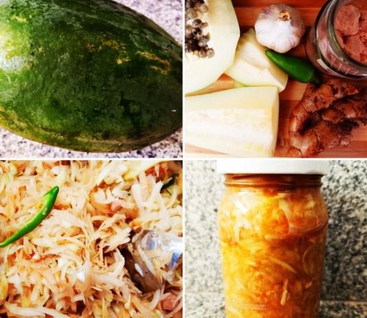Recette N°205 - Kimchi de papaye verte - Crédit photo izart.fr