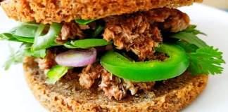 Recette N°212-Burger sans gluten aux rillettes de sardines - Crédit photo izart.fr