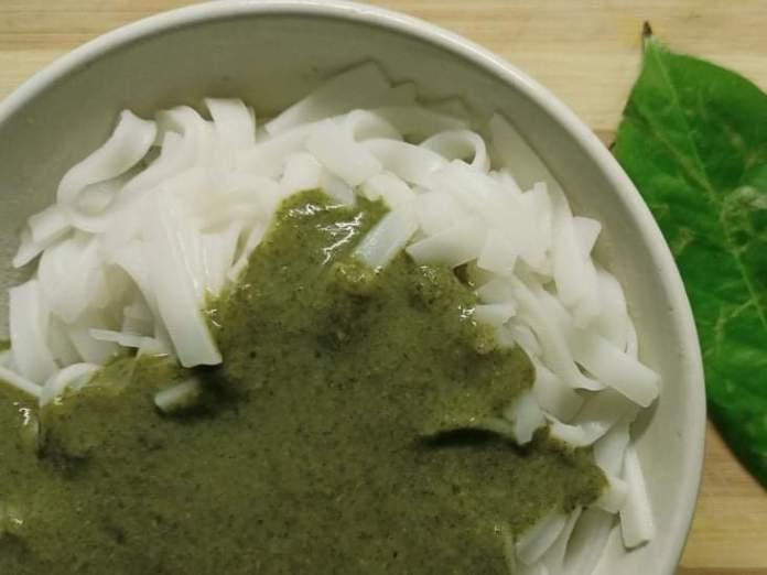 Recette N°213 - Pâtes de riz sauce verte - Crédit photo izart.fr