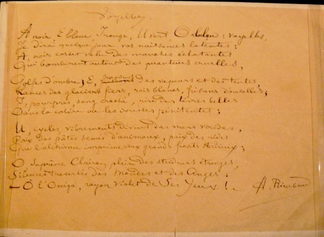 Arthur'un el yazısı.